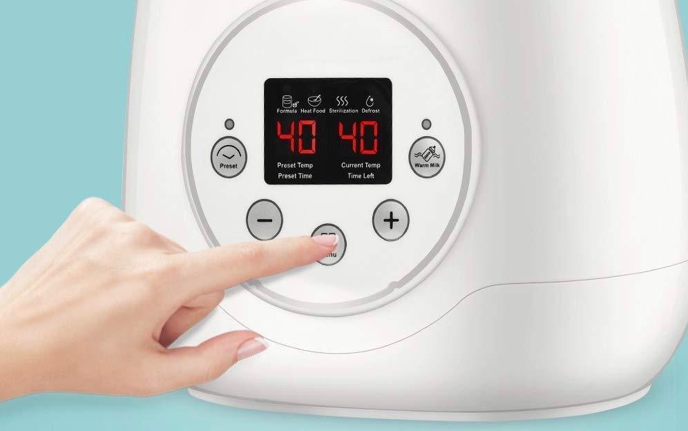calienta biberones temperatura