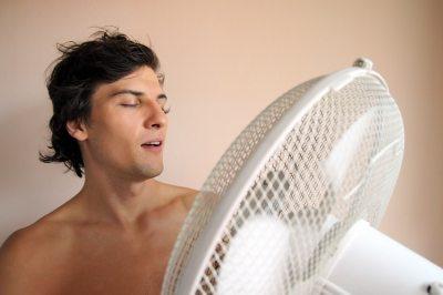 Calor en verano ventilador