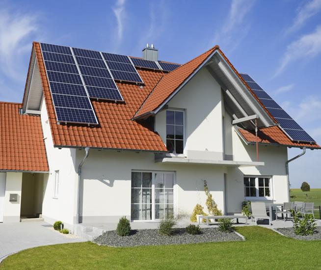 casa com energia solar