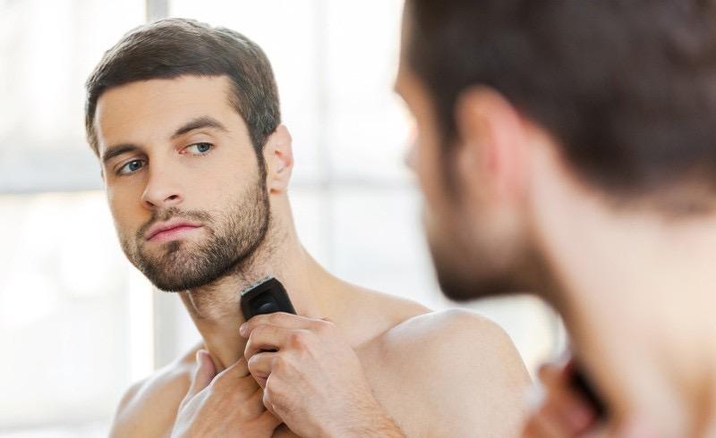 recortadora de barba cuello