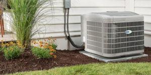 aire acondicionado en patio interior