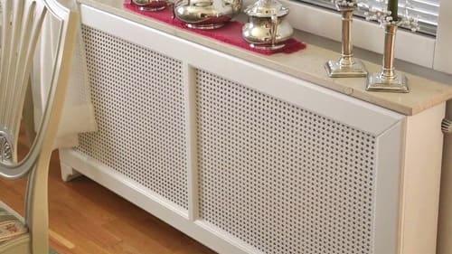 cubreradiador blanco madera