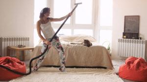 limpieza divertida en casa